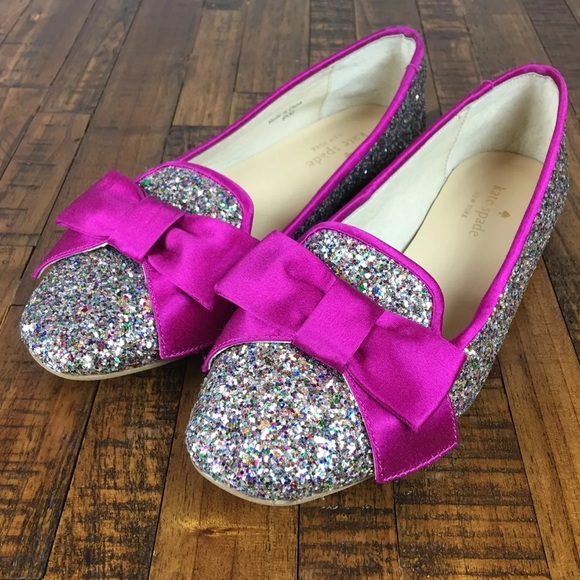 be18ddb57af kate spade Shoes - NEW KATE SPADE NEW YORK Glitter Flats Loafers Bows